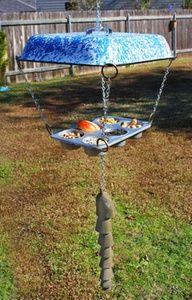 Bird Feeder from Kitchen Pans