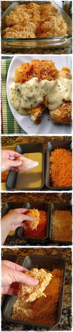 How To Crispy Cheddar Chicken