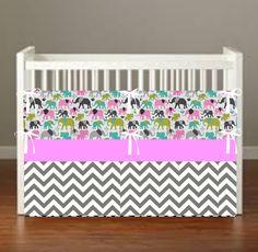 Elephant Walk Crib Bedding  Elephant Nursery Decor Safari Nursery Decor