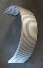 Wetterschutzgitter W57 Alfitec Gitterelemente aus Aluminium, Lüftungsgitter Lamellengitter Gitter Aluminium, Lattices