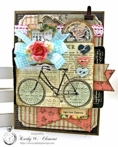 Springtime Bicycle Greeting Card - Kathy by Design