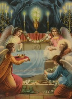 An early century lithograph of Mary in her sepulchre. Santa Maria Maggiore, Images Of Mary, Mama Mary, Queen Of Heaven, Blessed Mother Mary, My Favorite Image, Religious Art, Pilgrimage, Our Lady