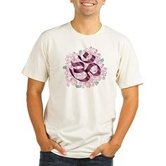 Truly Teague Organic Mens Fitted TShirt Hindu Om Omkara Aum Meditation Symbol  2X * Learn more by visiting the image link.