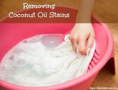 Removing Coconut Oil Stains: HybridRastaMama.com