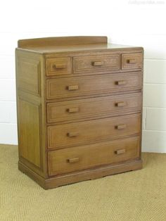 Brynmawr Oak Chest Of Drawers - Antiques Atlas