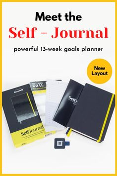 This powerful 13-week goals planner guides you to set, plan, and track progress towards your biggest goals. Backed by science and success psychology, the Self Journal is your proven framework for inevitable success. #self #planner #aff