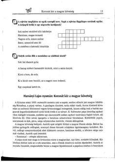 Botond 3. Olvasni jó! Szövegértés gyakorlóból Crossword, Crossword Puzzles