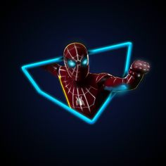 I felt let down by @aniketjatav's neon Spiderman maybe I let the hype get to me. I decided to make my own. [OC]
