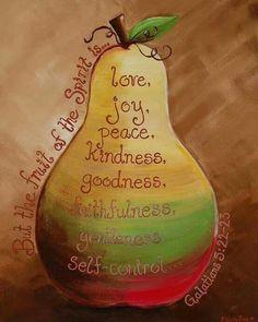 Fruit Of The Spirit Craft Joy Bible Verses 32 Trendy Ideas Scripture Art, Bible Art, Bible Scriptures, Scripture Pictures, Scripture Painting, Bible Crafts, Galatians 5 22, Saint Esprit, A Course In Miracles