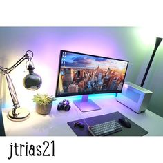 Check out this beautiful setup by @jtrias21! #FiancéGoals    #setup #dreamsetup #workstation #battlestation #workspace #pcgaming #deskspace #desksetup #gaming #game #gamer #gamingsetup #pc #pcmasterrace #computer #technology #clean #pcgaming101  #officialsetups #apple #interiordesign #dreamroom #style #interiordecor #goodvibes #instagood #design #nxtgenpc #inspiration