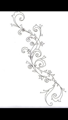 Swirl vine tattoo, look great on forearm or calf