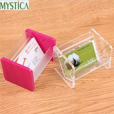 2017NEW Hot Sales Acrylic Business Card Storage Box Display Stand Desk Office Desk Workbench Business Card Holder Table Rack Box #Affiliate