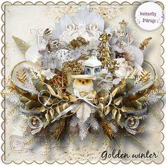 "Photo from album ""Golden Winter on Yandex. Vintage Scrapbook, Digital Scrapbook Paper, 2 Clipart, Background Vintage, Printable Paper, Print And Cut, Mini Albums, Christmas Wreaths, Creative"