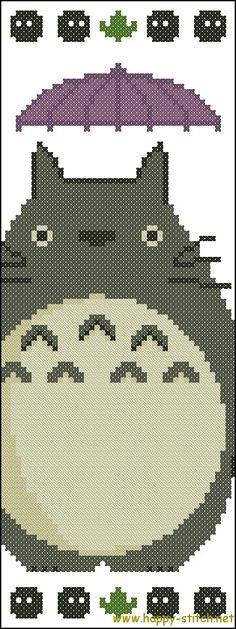 Totoro bookmark free cross stitch pattern