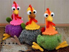 Мы одна команда - с гребешками банда! - Мои вязалки - Галерея - Форум почитателей амигуруми (вязаной игрушки)