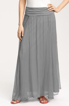 Max & Mia Crinkled Maxi Skirt available at #Nordstrom  Saw this in black with a black tank top mini-dress under it and it was soo cute for summer! Sophisticated.
