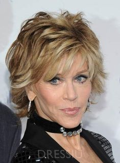 Hot Jane Fonda Short Straight Layered Synthetic Hair Capless Wig 8 In Short Hairstyles For Women, Hairstyles With Bangs, Pretty Hairstyles, Jane Fonda Hairstyles, 12 Inch Hair, Medium Hair Styles, Short Hair Styles, Short Hair With Bangs, Thick Hair