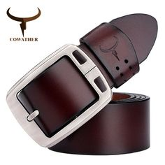 Cheap leather belts for men, Buy Quality brand genuine leather belt directly from China genuine leather belt Suppliers: Cowhide Genuine Leather Belts for Men Brand Strap Male Pin Buckle Vintage Jeans Cowboy Cinto Masculino Casual Belt for Man Real Leather Belt, Leather Belt Buckle, Leather Belts, Cow Leather, Cowhide Leather, Belt Buckles, Metal Belt, Black Leather, Buckle Jeans