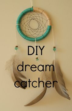 DIY Dream Catcher I will finally make a small dream come true-I've made one of these with metal craft rings and seashells and waxes twine came out perfect!