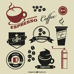 Vintage coffee logos