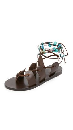 Ancient Greek Sandals Amaryllis Stones Gladiator Sandals