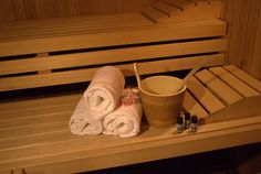 In der Sauna können Sie den Alltag vergessen und zur Ruhe kommen