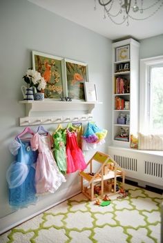 Rambling Renovators   big girl bedroom Check out the radiator cover w bookcases built above.  Wonder if I could do this?