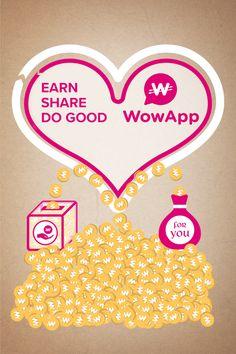 ¡Únete gratis a mí en WowApp para obtener ingresos, compartir y marcar la…