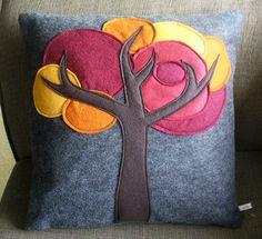 Decorative Pillow Tree Pillow Gray Pillow ♥ by SheilaWeilStudios, $59.00