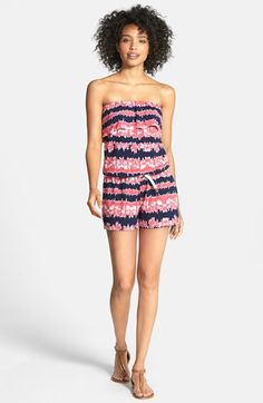 Tart 'Everly' Belted Print Jersey Romper