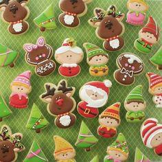 No photo description available. Christmas Cookie Exchange, Christmas Sugar Cookies, Christmas Cupcakes, Christmas Sweets, Noel Christmas, Christmas Goodies, Christmas Baking, Crazy Cookies, Iced Cookies