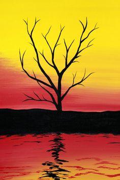 Original pintura acrílica abstracta lienzo por PicturesqueFolkart