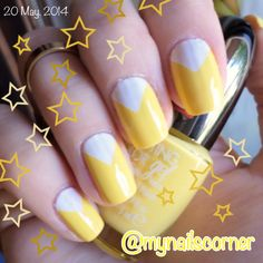 Nail art yellow