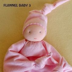 Flannel Baby A First Doll Pattern PDF Waldorf Baby by woolhalla Sewing For Kids, Baby Sewing, Doll Patterns, Sewing Patterns, Baby Security Blanket, Waldorf Toys, Blanket Stitch, Felt Animals, Baby Toys