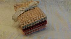 Heklede kluter. Crochet dishcloth.