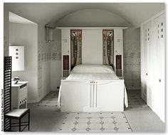 The White Bedroom at Hill House. Charles Rennie Mackintosh (Scottish, 1868–1928). (from John Black's blog)