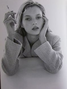 Kate Moss by Itaru Hirama : This looks sooo much like my granddaughter Carmella!!!  But without the cigarette .