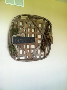 Finally found a tobacco basket... Decorated with simple sign, dried tobacco leaves
