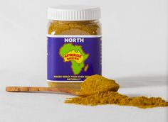 NORTH - Ras el hanout: Our Afrikoz Spices version contains black pepper, cardamom, cinnamon, cloves, coriander, cumin, ginger, mace, nutmeg, pimento and turmeric. $10 each for 1-3 100g jars