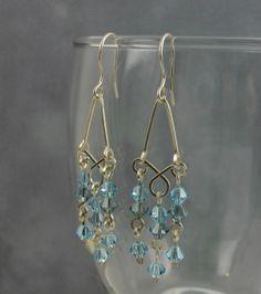 Handmade Earrings Wire Wrapped in Sterling by MystikCritterZ, $18.00