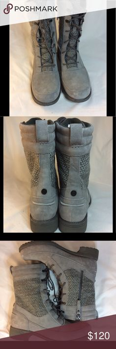"""The North Face Boots Insulated. Suede and textile upper. Weatherproof sole. Side zipper allows wearer to expand or tighten boots with laces as need for comfortable fit. 1/4"""" platform 1 1/4"""" heel. Shaft 7.5"""" high. Offers welcomed. The North Face Shoes Winter & Rain Boots"""