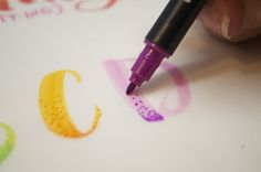3 more unique effects that can be achieved using Tombow's most popular  pens, the Dual Brush Pens, in addition to one fun item you could very well  have in your possession already!
