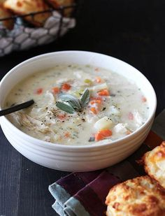Turkey Potpie Soup 30 Soups You Can Make in 30 Minutes or Less via @PureWow