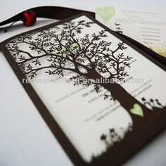 $375 incl. shipping: New Arrival: IC1402 01 Red Leaves  Laser cut Oak Tree Wedding Invitation Card for Wedding-in Event & Party Supplies from Home & Garden on Aliexpress.com | Alibaba Group