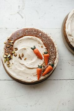 Carrot Cake with Hawaij and Tahini Caramel Frosting | my name is yeh