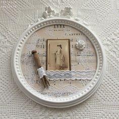 Cadre retro romantique Anna: partition de musique pince à