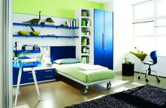Blue White And Green Bedrooms