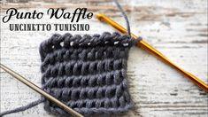 Uncinetto tunisino : il punto waffle
