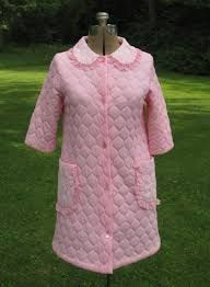 Quilted nylon dressing gowns
