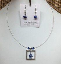 Isabelle Lehoux Montréal - Duo Carré Pierres Semi-Précieuses Isabelle, Pendant Necklace, Jewelry, Glass Marbles, Stones, Boucle D'oreille, Necklaces, Locs, Jewlery